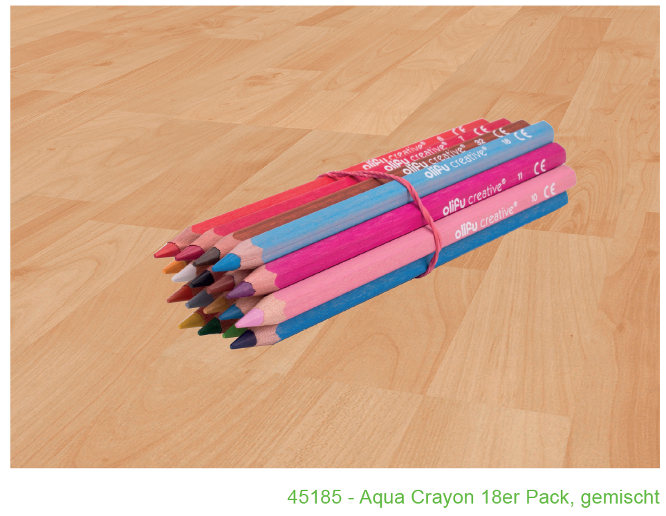 Ryškiaspalvis grimas - akvareliniai pieštukai, 18 vnt Image