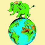 Dramblys geltonas